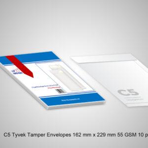 C5 Tyvek Tamper Envelopes 162 mm x 229 mm 55 GSM 10 pcs